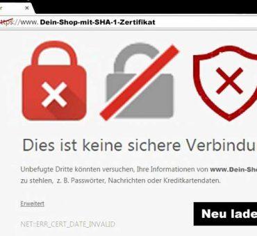 SSL – Ohne Sicherheit mit Sicherheit Problem