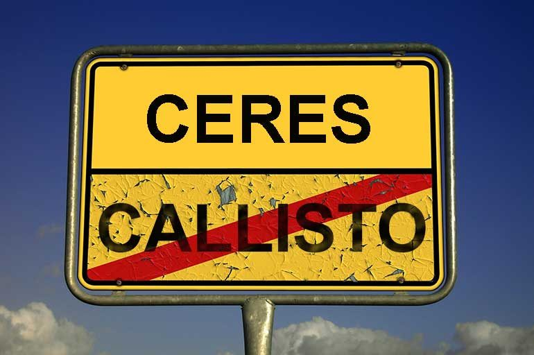 Callisto geht, Ceres kommt