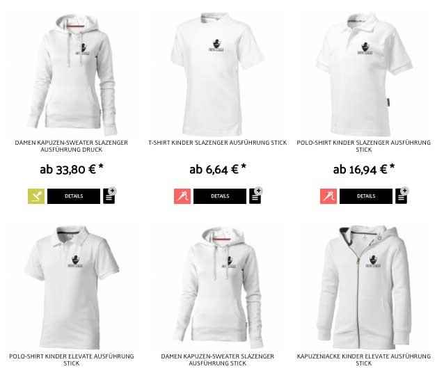 Corporate Fashion im turniershop24 – Druck oder Stick nur zwei Optionen von vielen