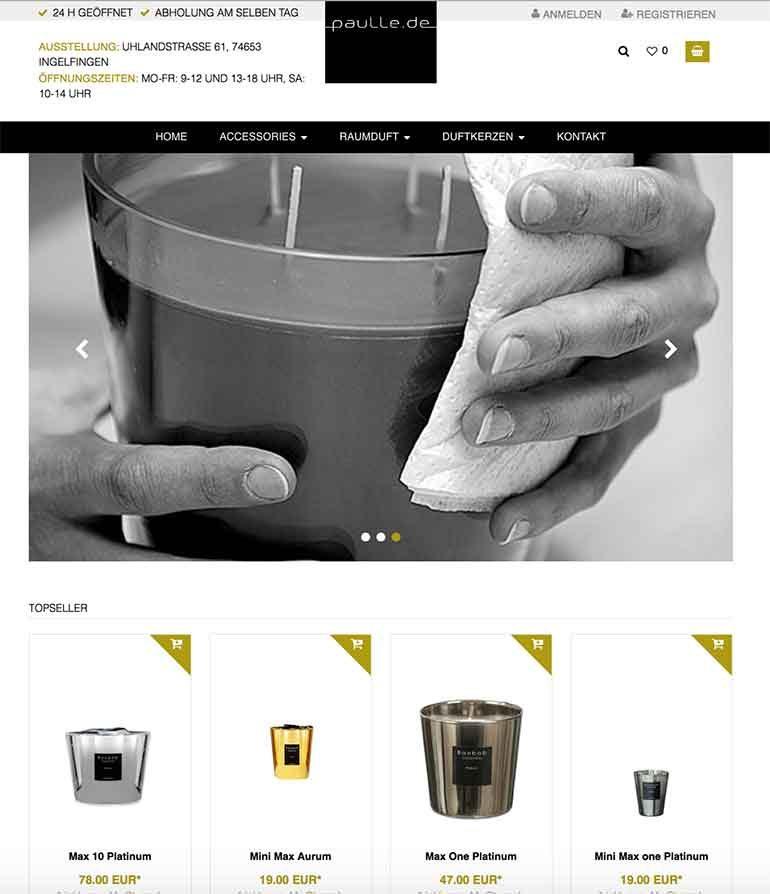 paulle.de Shop für exklusive Duftkerzen