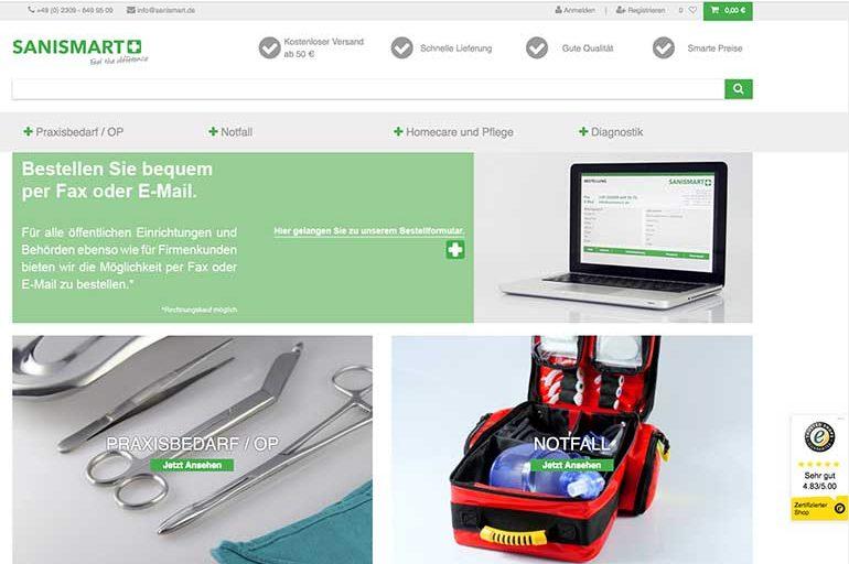 Digitalisierung im Einzelhandel – Onlineshop für SANISMART