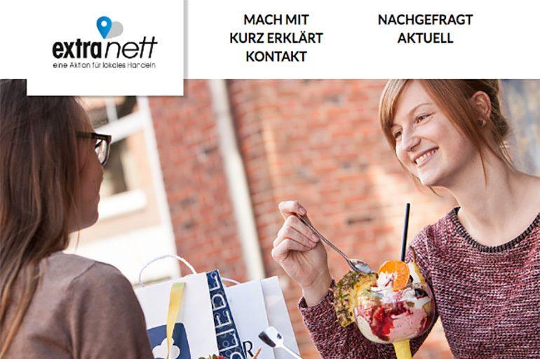 Aktion ExtraNett – digitale Lösung für den Einzelhandel
